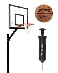 Zestaw do koszykówki 502 Sure Shot Home Court + piłka Spalding TF-50 + pompka Axer Sport