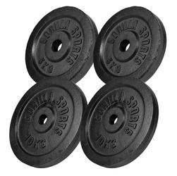 30 kg Zestaw obciążeń żeliwnych czarny
