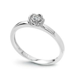 pierścionek ,białe złoto 58514k i diament