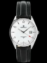 Zegarek na pasku czarnym meski PERFECT C530T - DŁUGI PASEK zp214b