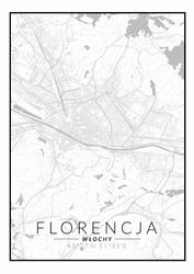 Florencja mapa czarno biała - plakat Wymiar do wyboru: 70x100 cm