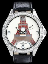 Damski zegarek na pasku JORDAN KERR - WIEŻA EIFFLA zj734d -antyalergiczny
