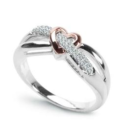 pierścionek serce, złotoi 29diamentów