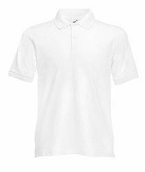 Koszulka polo Fruit of the Loom Slim Fit - 632080 30 - Biały