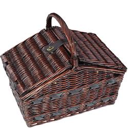 Kosz piknikowy z wiklinowym uchwytem i wyposażeniem dla 4 osób Cilio Como CI-155105