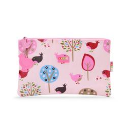 Wielofunkcyjny portfel różowy w ptaszki Penny Scallan