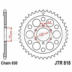 Zębatka tylna stalowa JT 818-41, 41Z, rozmiar 630 2300090 Suzuki GSX 750
