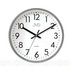 ZEGAR ŚCIENNY JVD szary HA43.2 Płynący sekundnik