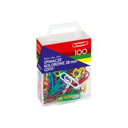 Kolorowe spinacze 28 mm - 100 sztuk
