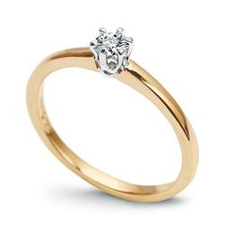pierścionek złoto 58514k i diament