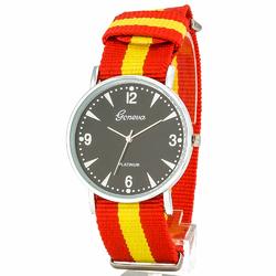 Zegarek nylonowy czerwony - czerwony
