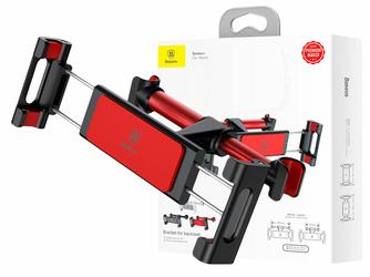 Baseus Backseat uchwyt samochodowy na zagłówek Czerwony - Czerwony