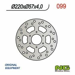 NG099 TARCZA HAMULCOWA DERBI GPR50 97-03, CAGIVA 50 MITO 98-99 220x57x4