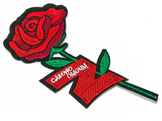 NAPRASOWANKA termo APLIKACJA. kwiat róża CZERWONA