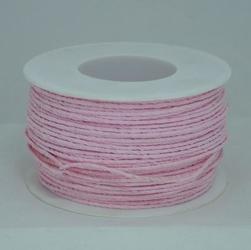 Ozdobny sznurek papierowy z drutem - różowy jasny - RÓŻJAS