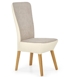 Krzesło drewniane do jadalni Vela popielatebeż