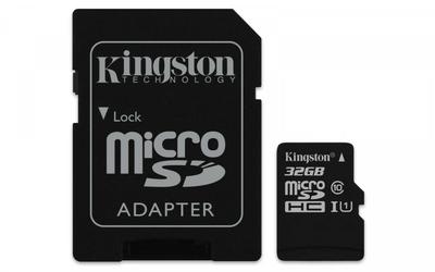 Kingston microSD  32GB Canvas Select 8010MBs adapter