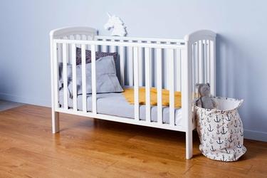 Nicole łóżeczko dziecięce 120x60 k. biały wyjmowane szczebelki