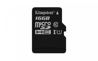 Kingston microSD  16GB Canvas Select 8010MBs