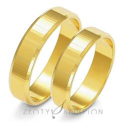 Obrączki ślubne Złoty Skorpion 5 mm - A121