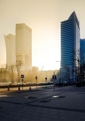 Warszawa Ciepło Zimno - plakat premium Wymiar do wyboru: 40x50 cm