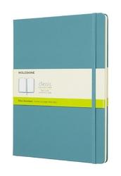 Notes Moleskine w twardej oprawie XL reef blue gładki