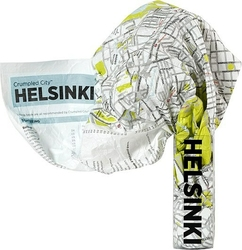Mapa Crumpled City Helsinki