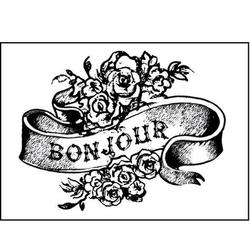 Stempel akrylowy Stamperia - Bonjour - 124