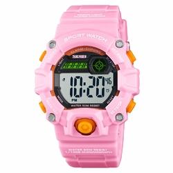 Zegarek DZIECIĘCY SKMEI 1484 DATA LED pink - PINK