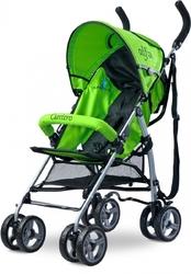 Caretero Alfa Zielony Wózek Spacerowy Parasolka + PUZZLE
