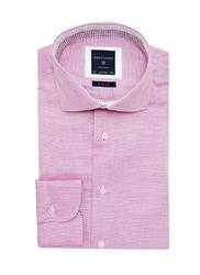 Elegancka koszula męska różowa SLIM FIT 43