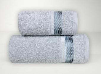 OMBRE JASNY POPIELATY ręcznik bawełniany FROTEX - popielaty