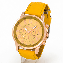 Zegarek natural yellow - YELLOW
