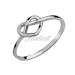 Srebrny delikatny pierścionek pr.925 serduszko