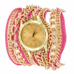 Zegarek chains pink I - PINK