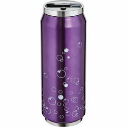 Stalowy kubek termiczny ze słomką Lattina Cilio 0,5 Litra, fioletowy CI-543827