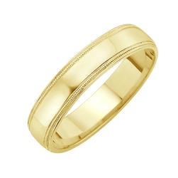 Staviori Obrączka Zdobiona. Żółte Złoto 0,585. Szerokość 5 mm.