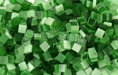 Mozaika ton in ton zielona 5x5 mm - 700 sztuk - ZIEL