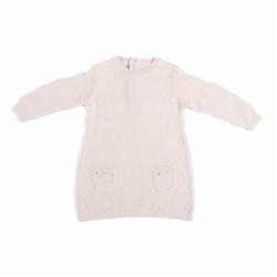 Babys Only, Tkana sukienka w prążki, Różowa, rozmiar 62