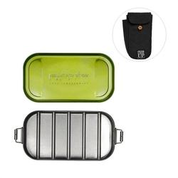 AL - Lunch box stalowy w pokrowcu czarnym