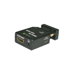 Techly Konwerter adapter VGA + 3,5mm audio na HDMI MF