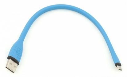 TB Kabel Micro USB 25cm Niebieski silikonowy