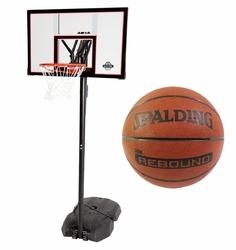 Zestaw do koszykówki Lifetime New York Downtown + Piłka Spalding NBA Rebound