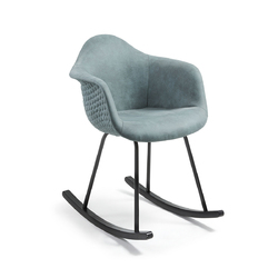 Fotel bujany TOME niebieski - niebieski