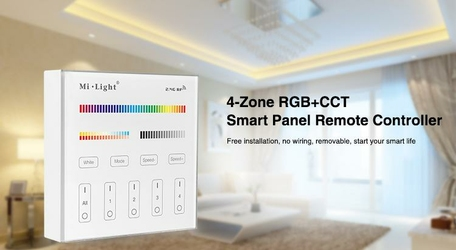 MILIGHT - 4-Zone RGB+CCT Smart Panel Remote Controller - B4