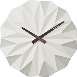 Zegar ścienny Origami biały