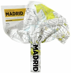 Mapa Crumpled City Madryt