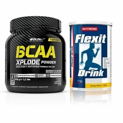 OLIMP BCAA Xplode - 500 g Flexit Drink 400 g - Strawberry  Grapefruit