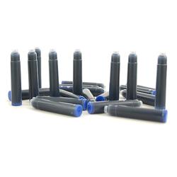 Naboje do pióra CRESCO 25szt. w kolorze niebieskim - niebieski