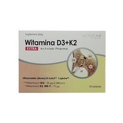 Activlab Pharma Vitamin D3+K2 Extra 30 tabs Mocne Kości